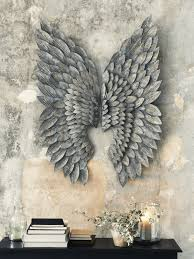 charming design wings wall decor home designing inspiration angel canada with black wing wooden angels fairy