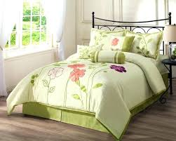 black and green bedding white set with pink purple fl pattern placed on the hot lime