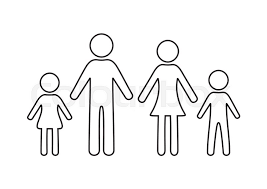 Simple Family Simple Black Family Outline Icon On Stock Vector Colourbox