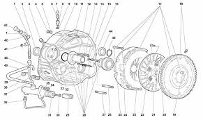 lamborghini murcielago diablo 96 01 performance clutch disc lamborghini murcielago part diagram no 21