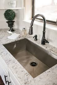 single basin kitchen sink marble countertops