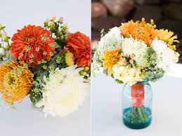 Mason Jar Table Decorations Wedding CALIE ROSE Wedding Flowers Utah 82