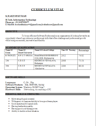 Resume Format For Mca Student It Cover Letter Sample Latest Freshers  Computer Engineers Fr Latest Resume