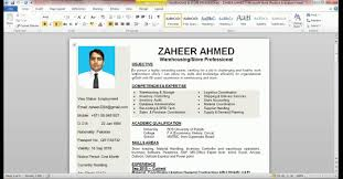 How To Make A Resume On Word How To Make An Easy Resume In