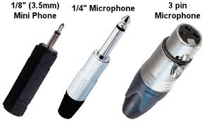 speaker response testing and analysis types of microphone connectors