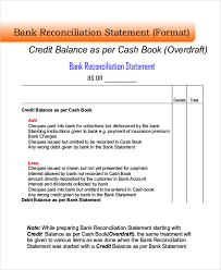 bank reconciliation form sample bank reconciliation 8 examples in word pdf