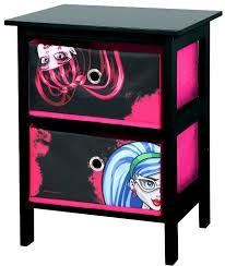 monster high bedroom furniture | Monster High 2 Drawer Black and ...