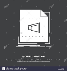Vector Image Format In Ui Design Audio File Format Music Sound Icon Glyph Vector Symbol