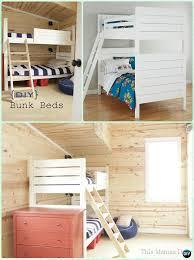 kids bunk bed. DIY Bunk Bed Frame Instructions-DIY Kids Free Plans