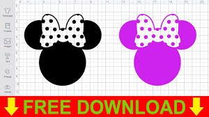 Download the perfect minnie mouse pictures. Disney Svg Free Minnie Head With Bow Cutting Files For Cricut Silhouette Youtube