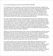 Letter Of Recommendation For Scholarship Inspiration 48 Letters Of Recommendation For Scholarship PDF DOC Free