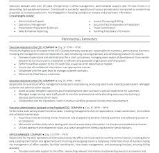Executive Assistant Resume Template Best Resume Templates For Office Assistant Administrative Coordinator