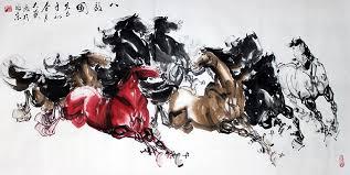 chinese wall art original chinese 8 horses painting wall art beautiful painting chinese wall art