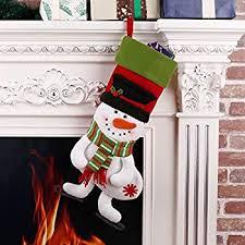 snowman christmas stockings. Brilliant Snowman 3D Christmas Stockings Snowman Xmas Holiday Decor 18 With K