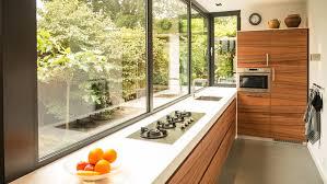 Aanbouw Met Moderne Keuken Houtfineer Lamel Open Kitchens
