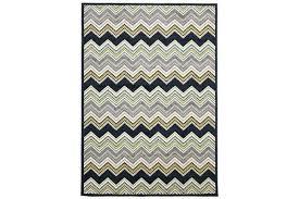indoor outdoor chevron rug navy 230x160cm