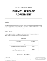You can download and get commercial lease agreement template in the internet for free. Furniture Lease Agreement Template Word Doc Apple Mac Pages Google Docs
