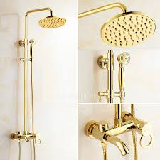 antique gold exposed brass wall mount shower faucet save 39 off