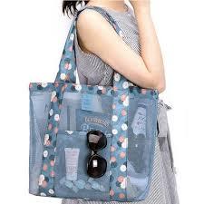 <b>Outdoor travel</b> net bag one shoulder <b>large capacity</b> beach bag ...