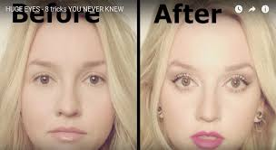 this video will show you 8 tips and tricks on how to make your eyes huge