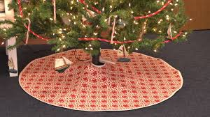 Christmas Tree Skirt Pattern Magnificent How To Make A Christmas Tree Skirt YouTube