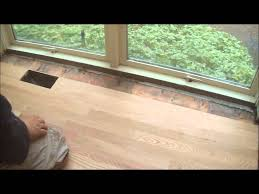 how to install solid hardwood flooring around hitting vents mryoucandoityouself