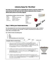 literary essay for the giver by lipkind s literature resources tpt