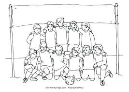 I Love Soccer Coloring Pages Kids Activities Boys Team Colouring