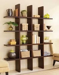 Wall Shelves Living Room Interior White Wooden Floating Wall Shelving Living Room With