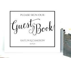 Birthday Guest Book Template Guest Sign In Book Surfbnb