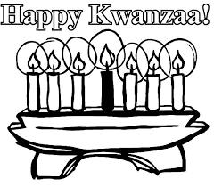 Happy Kwanzaa Day Kinara Colouring Page Colouring Tube