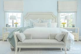 ivory and pale blue bedroom