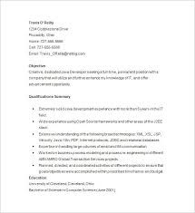 java developer resume template 14 free samples examples . objective ...
