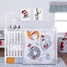 trend lab dr seuss classic cat in the hat 3 piece crib bedding set