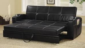 Image Real Leather Amazoncom Sleeper Sofa Bed With Storage And Cup Holders Black Kitchen Dining Amazoncom Amazoncom Sleeper Sofa Bed With Storage And Cup Holders Black