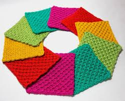 Knit Coaster Pattern Simple Design Inspiration