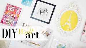 on diy canvas wall art tumblr with diy tumblr gallery wall art pinterest inspired ann le youtube