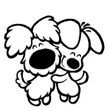 Due Cuccioli Affettuosi Disegno Da Colorare Disegni Da Colorare E