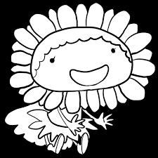 夏とともにやってくるひまわりの妖精塗り絵かわいい無料イラスト
