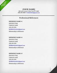 Reference Pages For Resume References On Resume Template Examples Resume Templates
