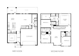 Attractive 3 Bedroom House Floor Plans Awesome 2 Story 4 Bedroom House Plans 7 Simple 2  Story .