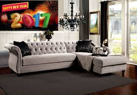 Warm Grey Living Room Rotterdam French Style Warm Grey L Shape Sectional Chaise
