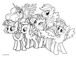Free Printable My Little Pony Coloring Pages For Kids | Cool2bKids