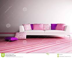 Pink Living Room Bright Interior Design Of Modern Pink Living Room Stock Images