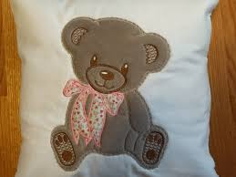 Teddy Bear Applique Designs Pillowcase With Teddy Bear Applique Free Machinembroideyr
