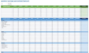 Monthly Budgets Spreadsheets Free Expense Report Templates Smartsheet