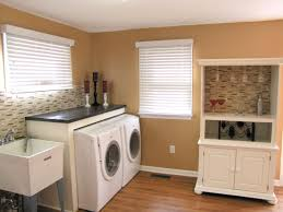 Diy Laundry Room Decor Hardwood Floor Ideas Pictures With Dark Cabinets Diy Basement