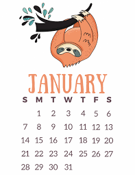 free printable 2018 calendar lazy sloths slap dash mom