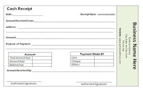 Receipt Template For Cash Payment Printable Receipt Template