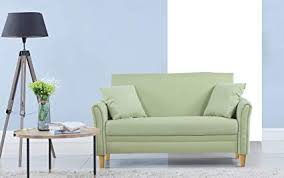 modern loveseat for small spaces.  For Divano Roma Furniture Modern 2 Tone Small Space Linen Fabric Loveseat  Green To For Spaces E